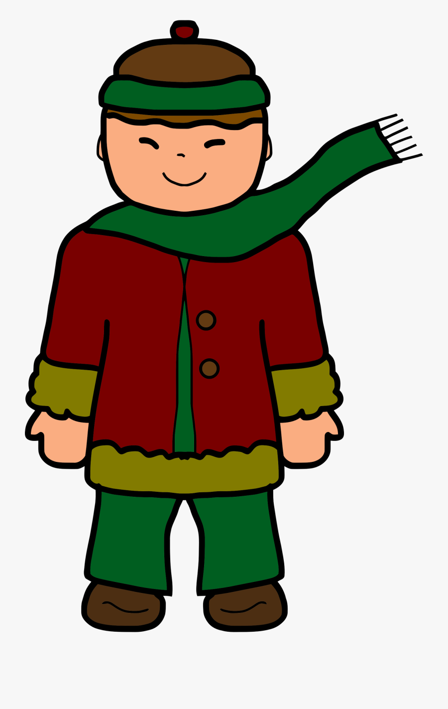 Standing,boy,toddler - Clipart Of Boy In Winter, Transparent Clipart