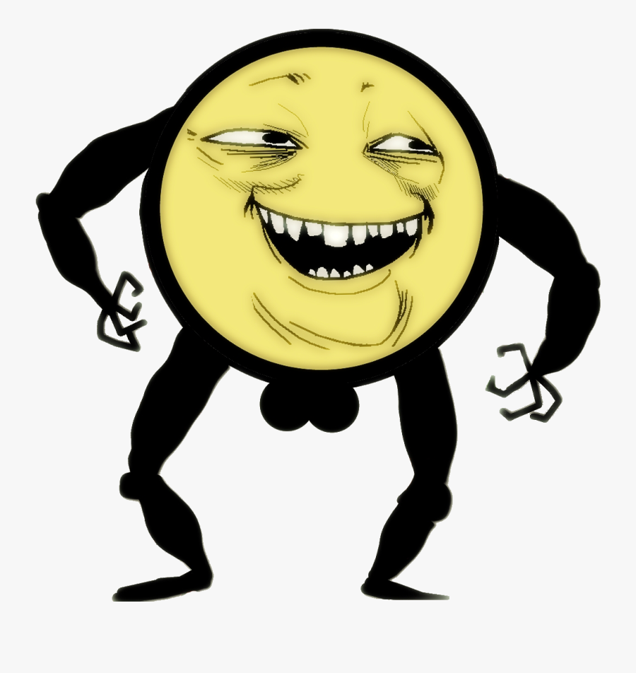 Meme Clipart Troll - Troll Face Meme, Transparent Clipart