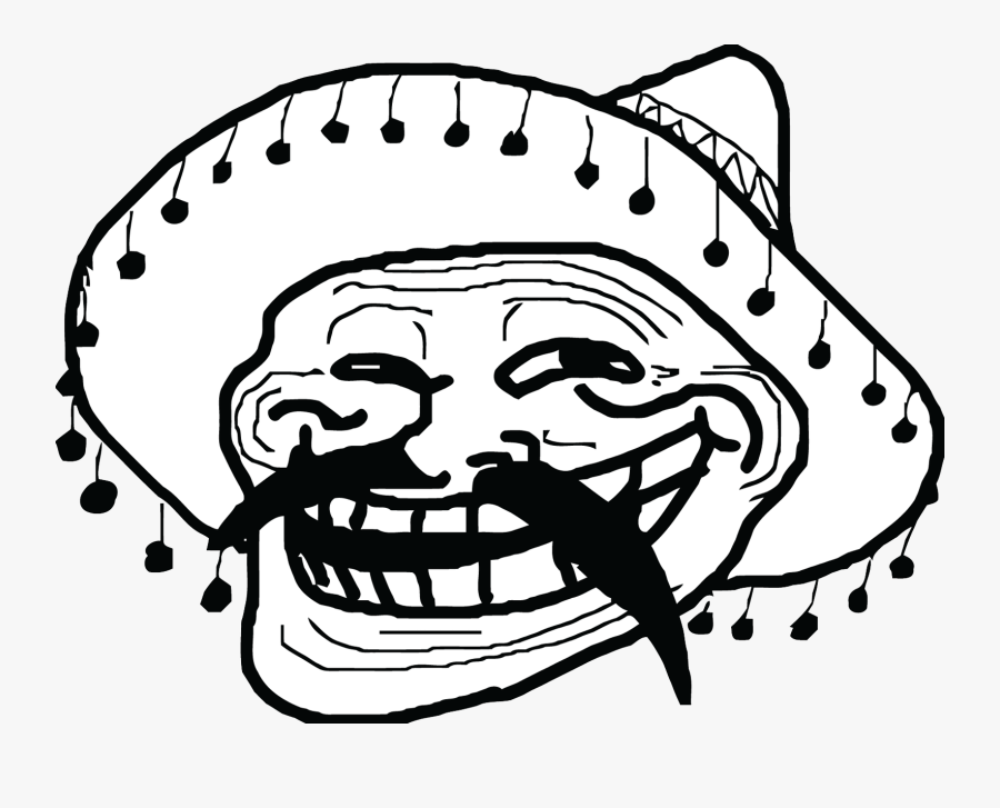 Mexican Meme Troll Face - Mexican Troll Face Png, Transparent Clipart