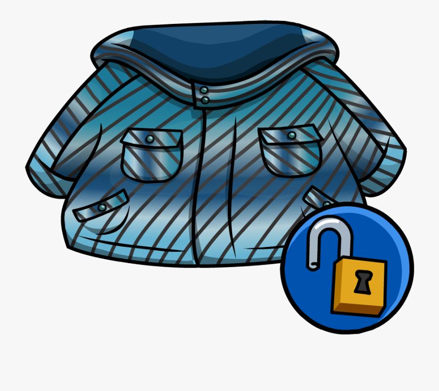 Image Winter Jacket Png - Club Penguin Blue Jacket, Transparent Clipart