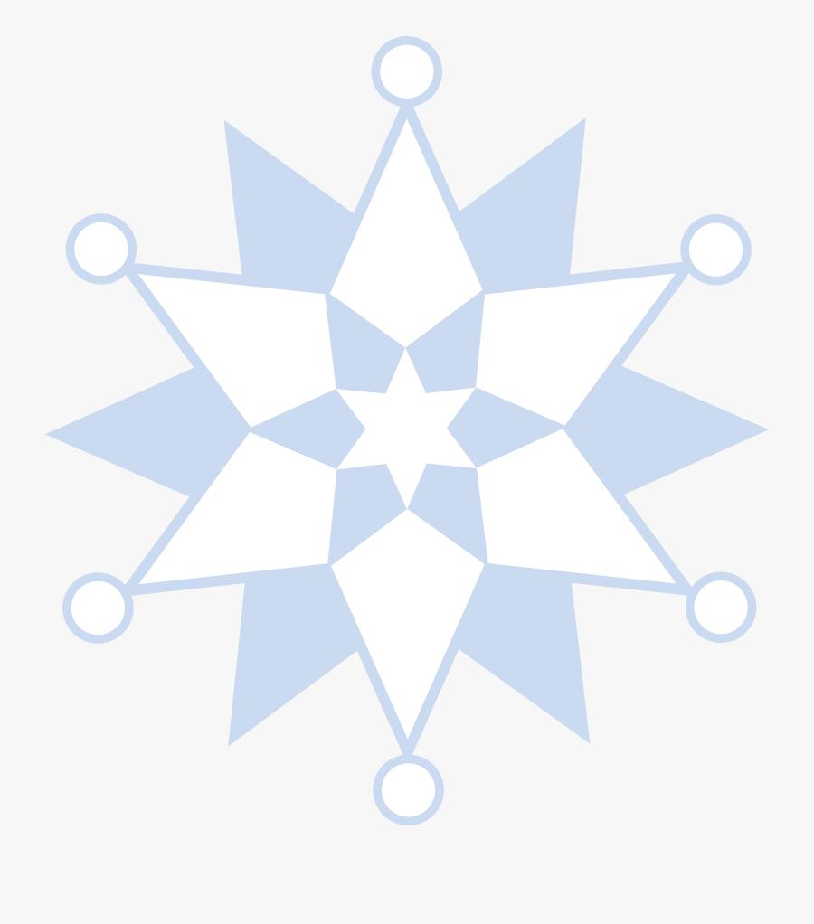 Winter Snowflake Pattern - Rectangular Flag Of Nepal, Transparent Clipart