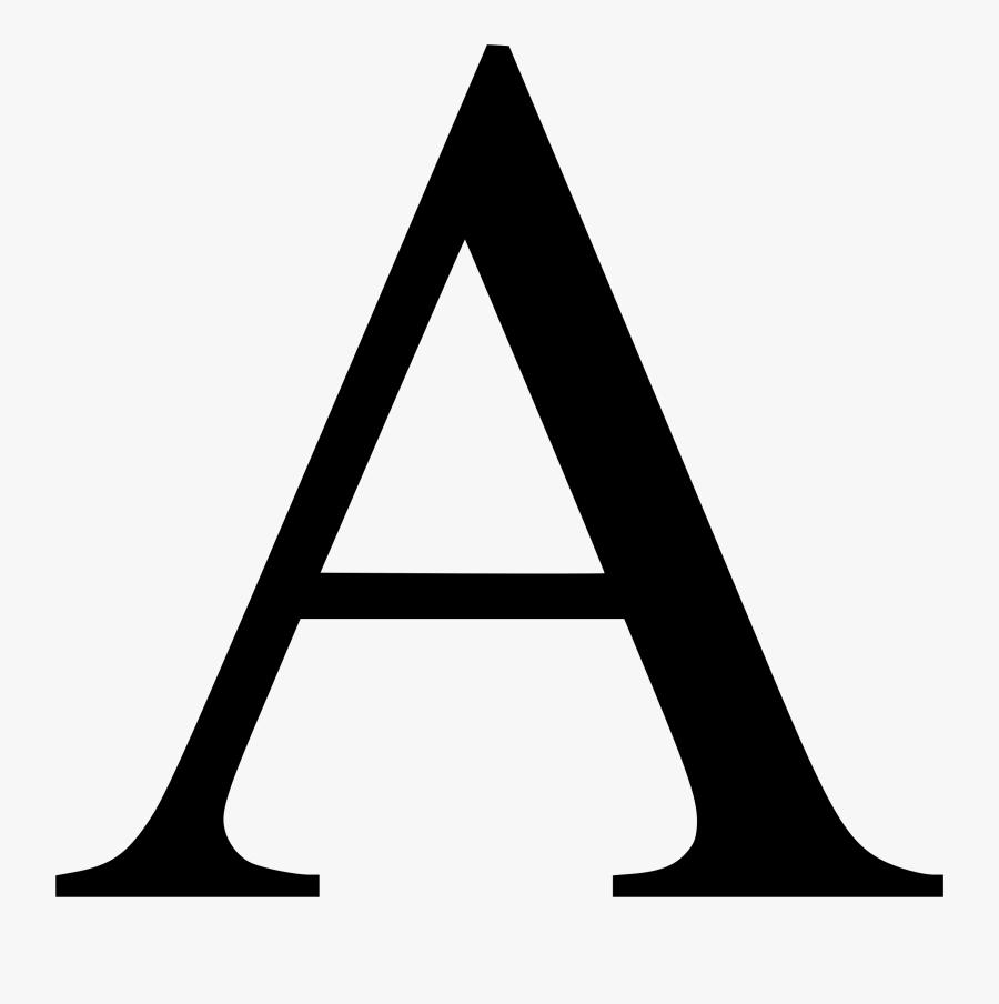 Authors Letter Clipart, Vector Clip Art Online, Royalty - Letter A Png, Transparent Clipart