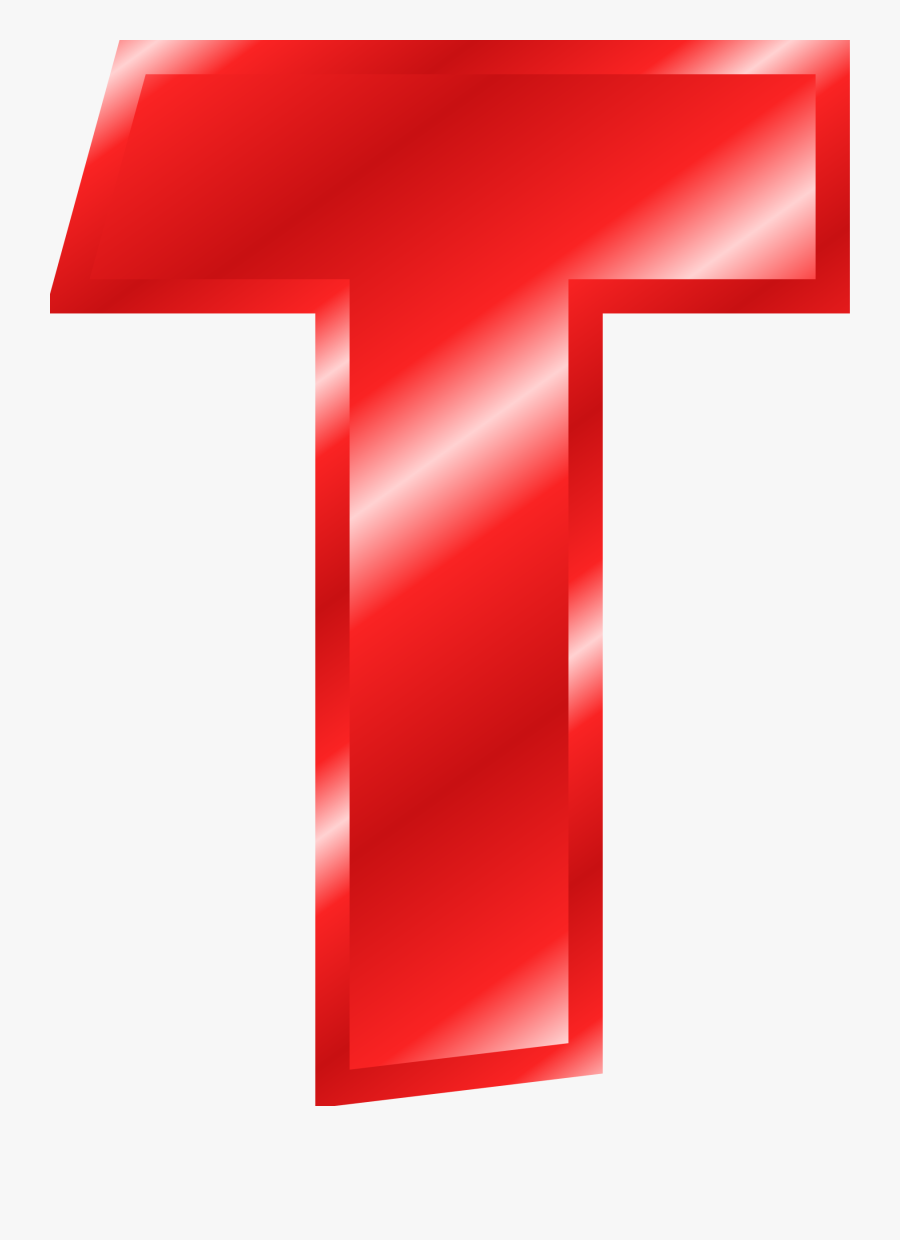 Letter T Free Clipart - Letter T Red Png, Transparent Clipart