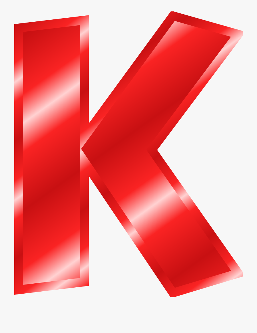 Effect Letters Alphabet Red Clip Art Transparent Stock - Letter K In Gold, Transparent Clipart