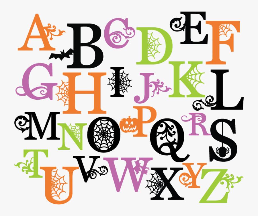Pencil Clipart Letter - Halloween Letters Ofthe Alphabet, Transparent Clipart