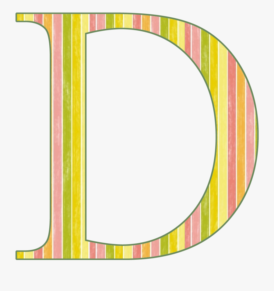 Letter D Clipart Images Black And White Objects Capital - Stripe Letter I Clipart, Transparent Clipart
