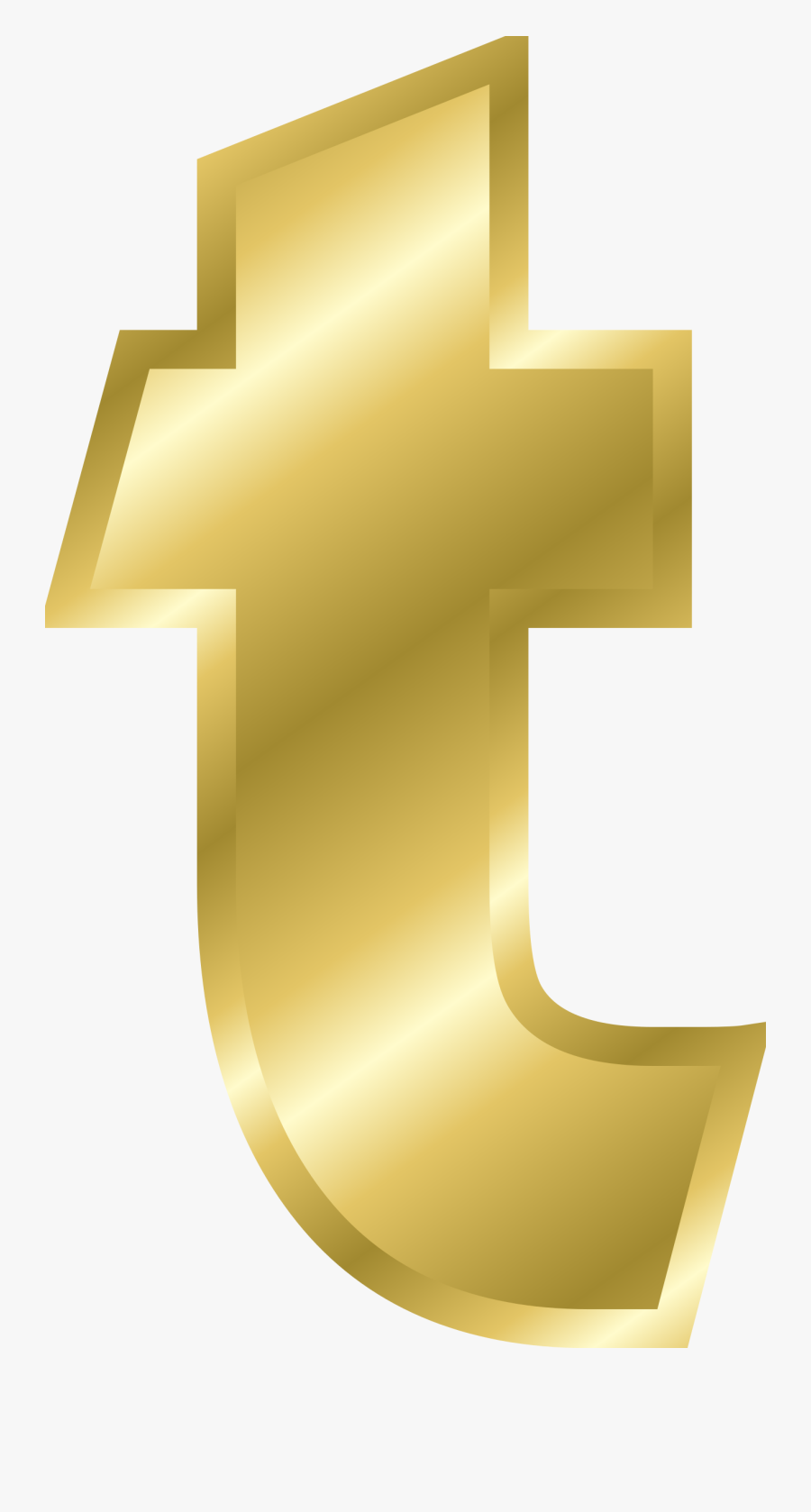 Letter T In Gold, Transparent Clipart