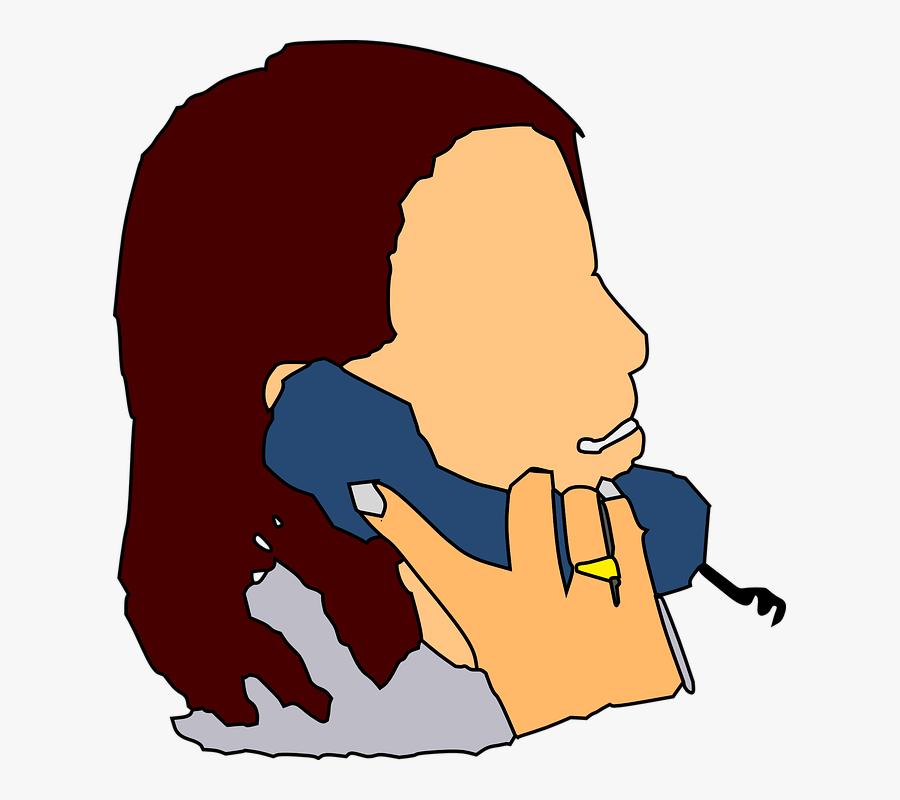 Clip Art Person On Phone, Transparent Clipart