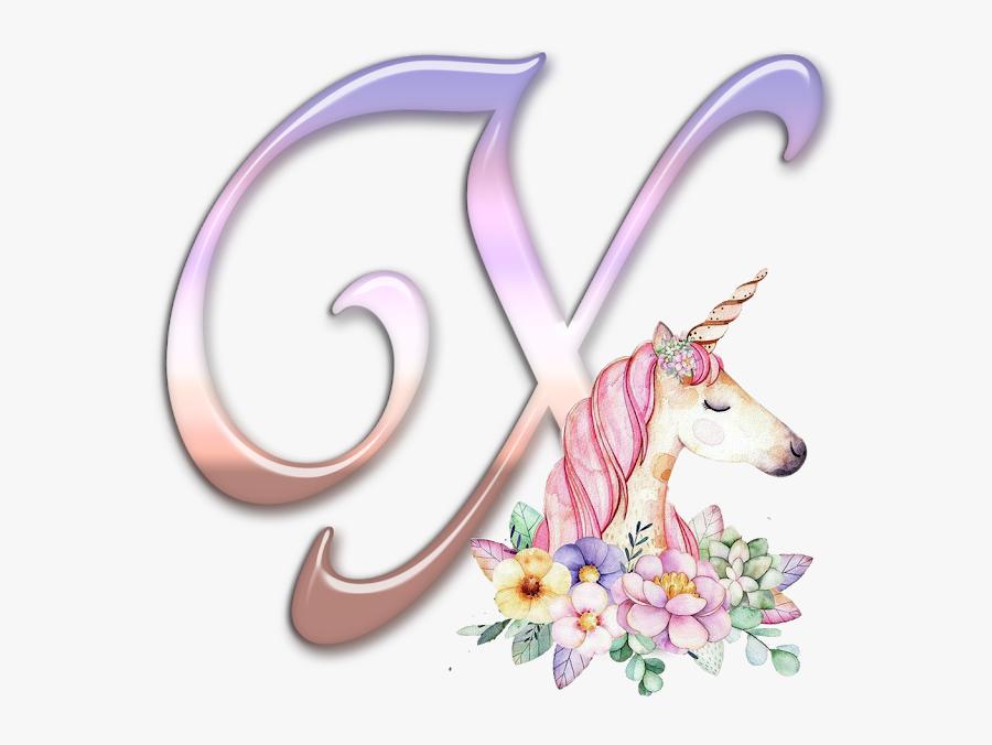 Unicorn Clipart Alphabet Letters - Unicornio Happy Birthday Unicorn, Transparent Clipart
