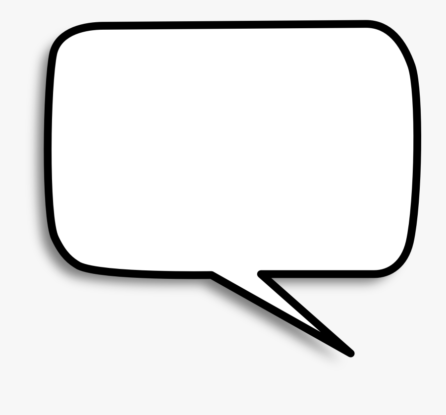 Talk Bubble Png - Square Speech Bubble White, Transparent Clipart