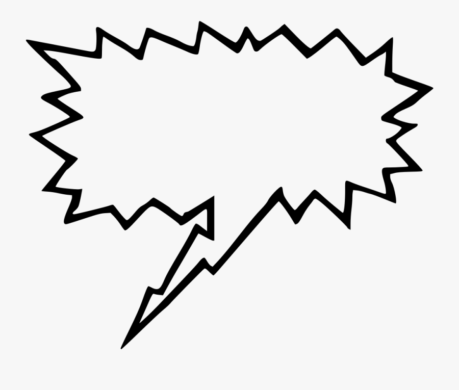 Comic Book Text Box Png Clipart , Png Download - Yelling Speech Bubble Png, Transparent Clipart