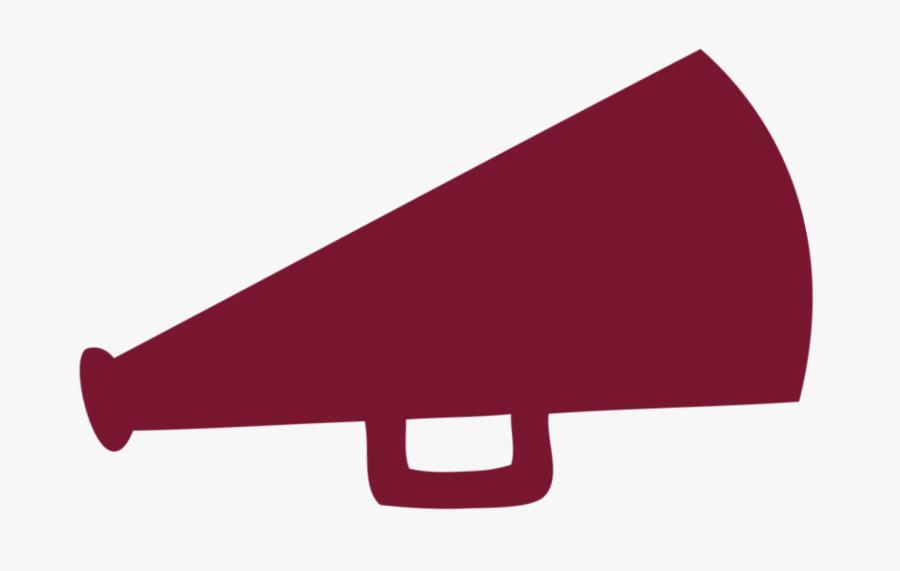 All Star World Questions - Cheerleading Maroon Megaphone Clipart, Transparent Clipart