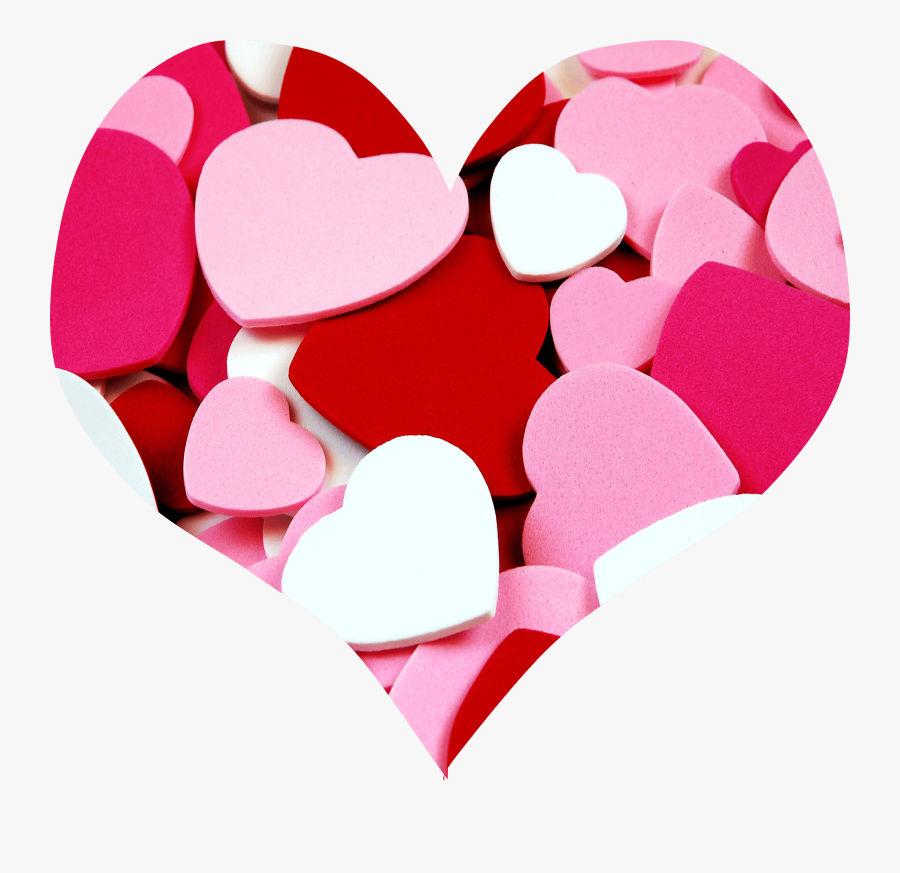 Transparent Pink Heart Clipart - Red White And Pink Hearts, Transparent Clipart