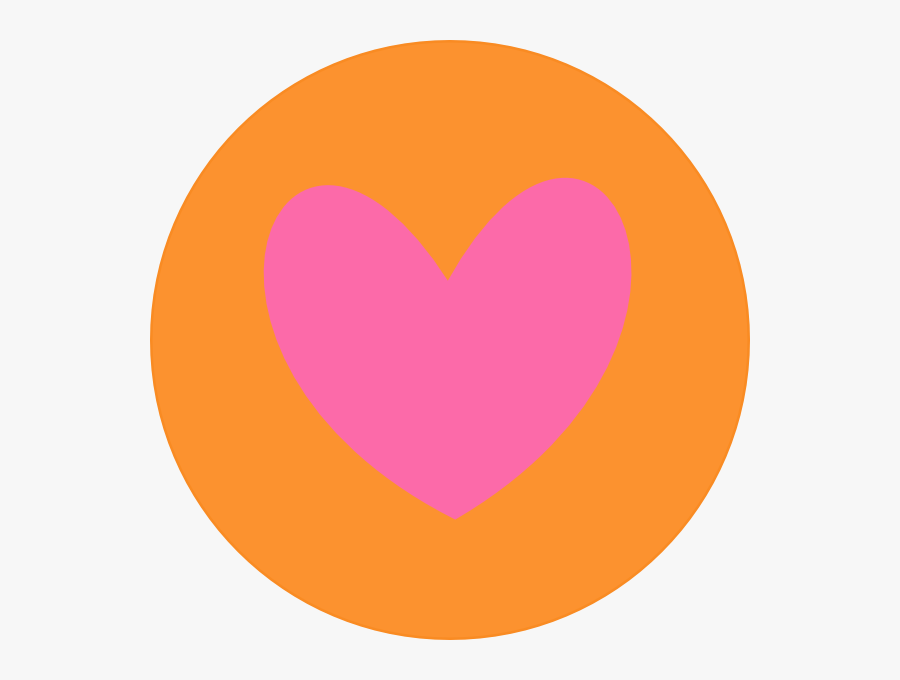 Heart Clipart Circle - Pink And Orange Love Heart, Transparent Clipart
