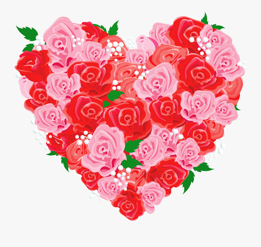 Heart Clipart Rose - Happy Mothers Day To A Mother & Father, Transparent Clipart