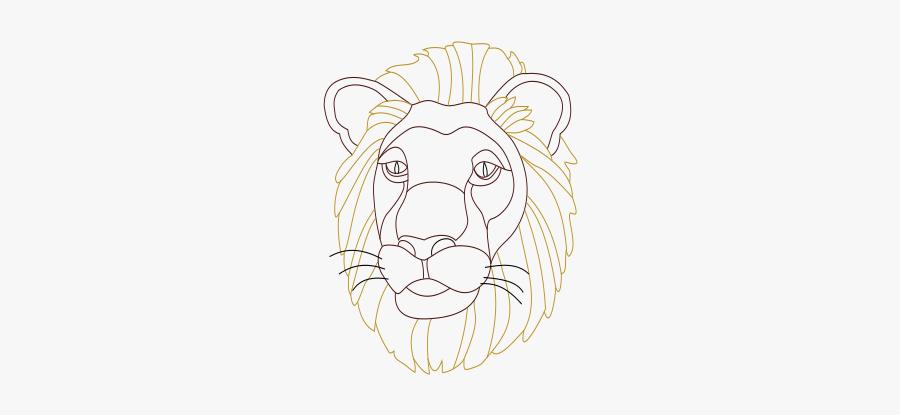 Lions Head - Illustration, Transparent Clipart