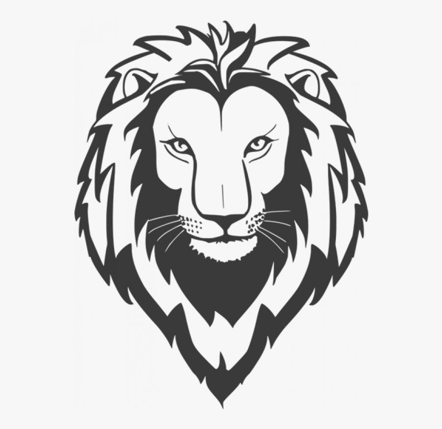 Lion Face Png Transparent Png Images - Transparent Lion Head Lion Black And White Png, Transparent Clipart