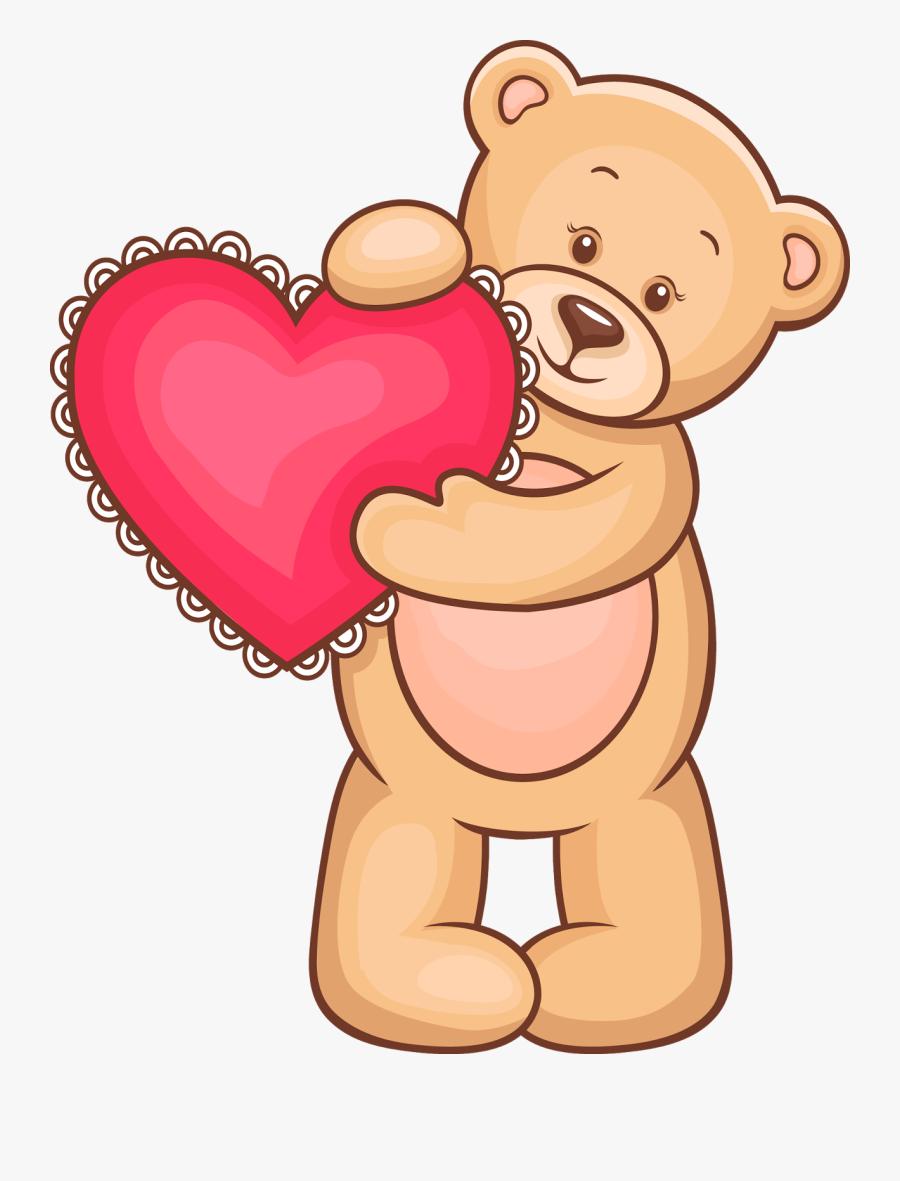 Teddy Bear Clip Art - Osito San Valentin Png, Transparent Clipart