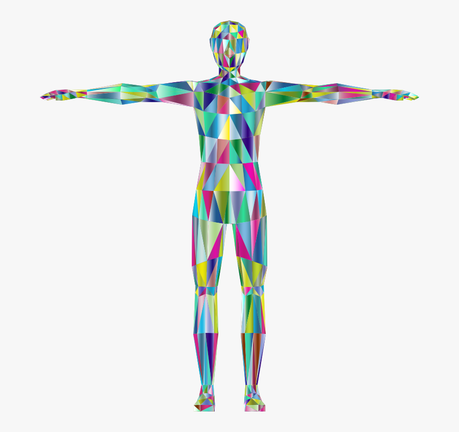 Prismatic Low Poly Human - Human Body Abstract Png, Transparent Clipart