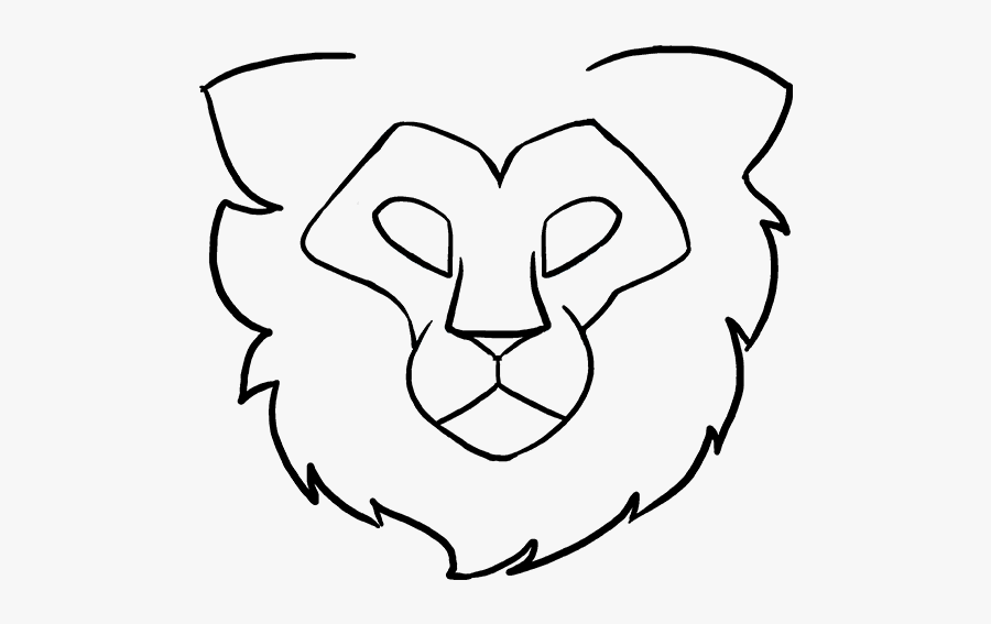 Drawing Lions Black And White Transparent Png Clipart - Easy Drawing Of A Lion Eye, Transparent Clipart