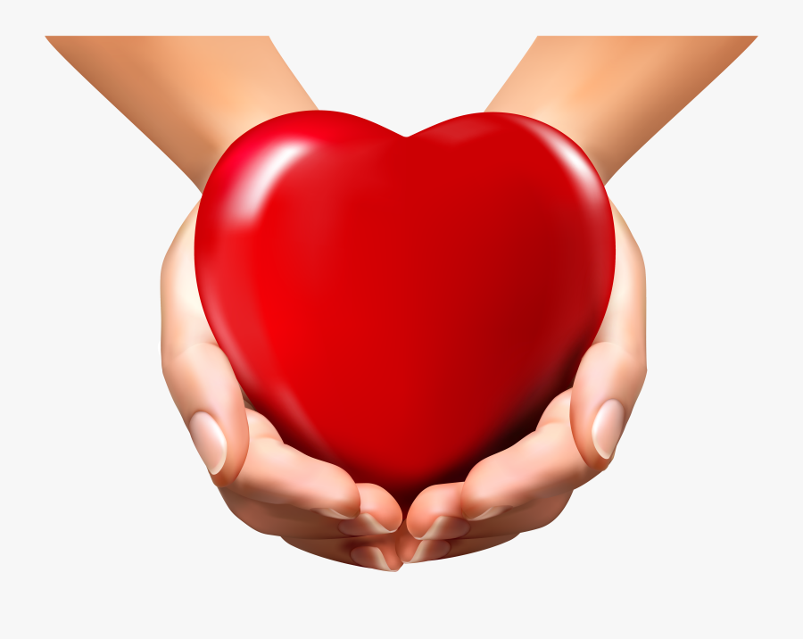Svg Freeuse Download Hands Holding Heart Clipart - Hand With Heart Png, Transparent Clipart