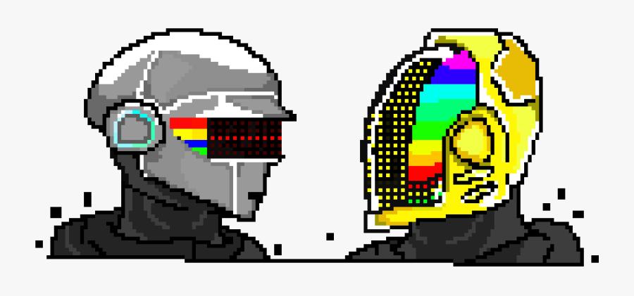 Daft Punk Pixel Art Maker - Daft Punk Pixel Art, Transparent Clipart