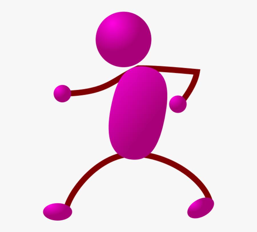 Happy Stick Man Dancing - Walking Stick Figure, Transparent Clipart