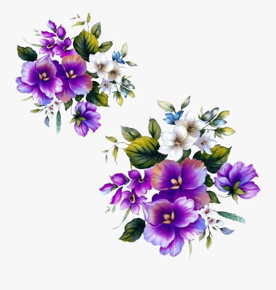 Floral Design Flower Purple - Clipart Purple Flower Design, Transparent Clipart