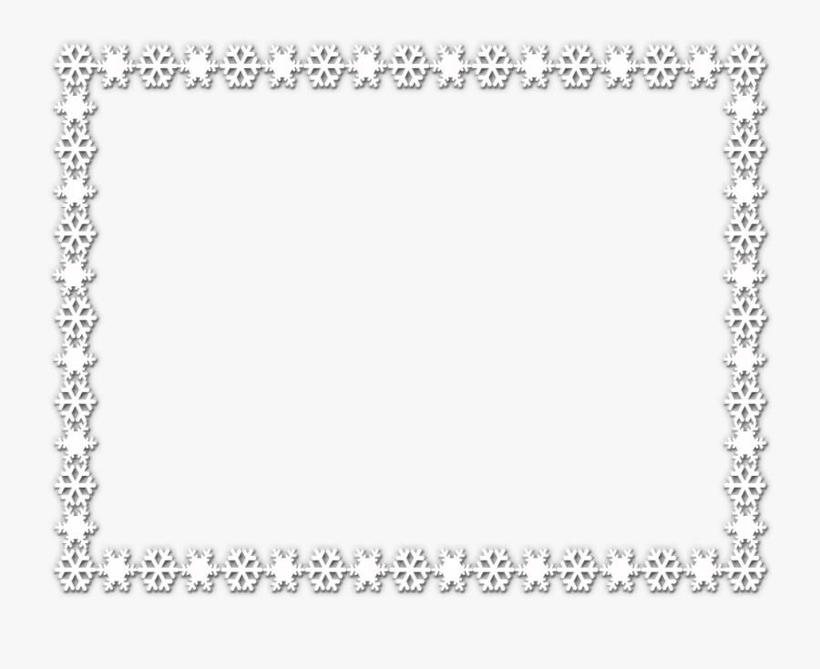 Snowflake Border Rectangle Black, Transparent Clipart