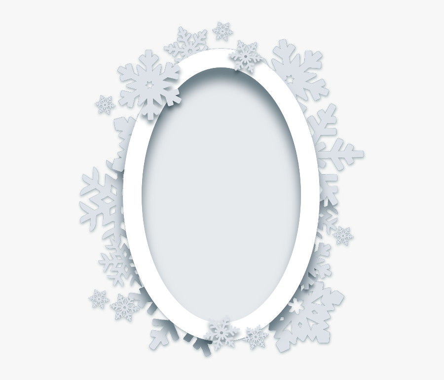 ❄ #christmas #frame #snowflakes #background #ornament - Circle, Transparent Clipart