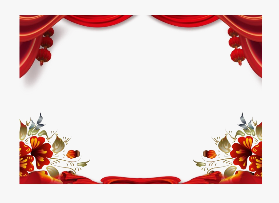 Chinese New Year Decoration Png Free Download - Chinese New Year Frame Png, Transparent Clipart