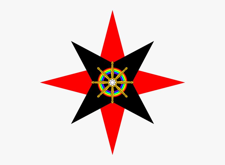 Dharma Wheel In Quaker Star - Quakers Star, Transparent Clipart