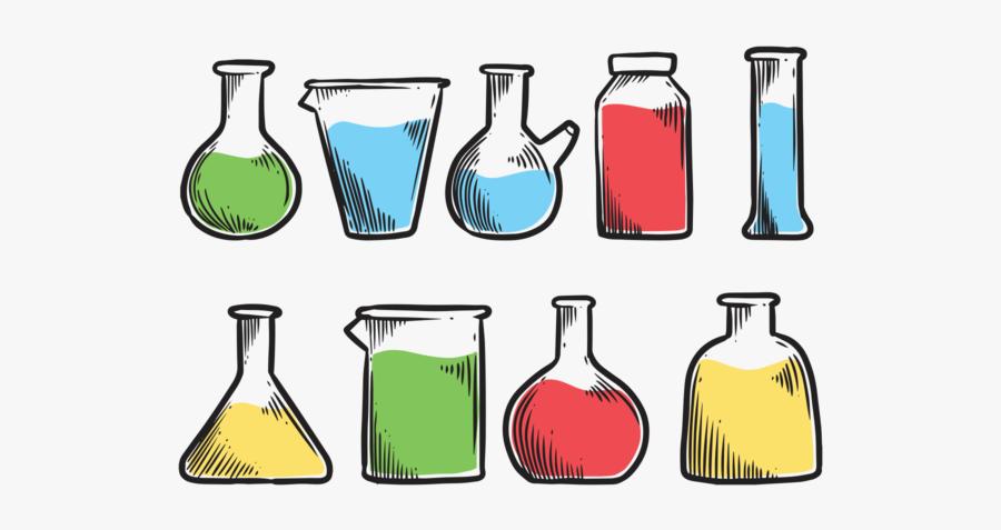 Beaker Icons Vector - Science Lab Equipment Clipart, Transparent Clipart