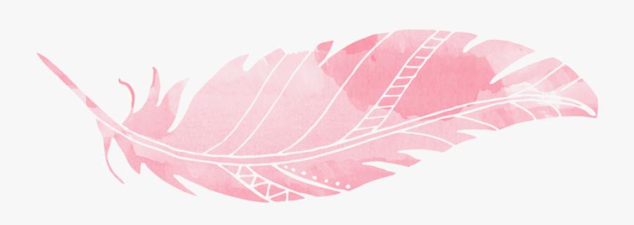 Feather Clipart Watercolor - Illustration, Transparent Clipart