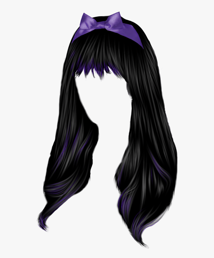 Pin By Lou On Cabello Pelucas Melenas In 2019 Gothic - Hair Png Female, Transparent Clipart