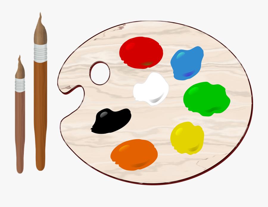 Art Brush Colors Free Photo - Paint Palette Clip Art Png, Transparent Clipart