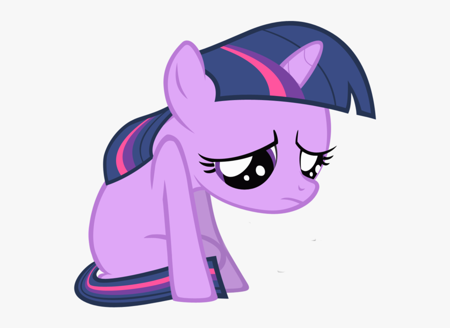 Sad Filly Twilight Sparkle Clipart , Png Download - Im Sorry For Wasting Your Time, Transparent Clipart