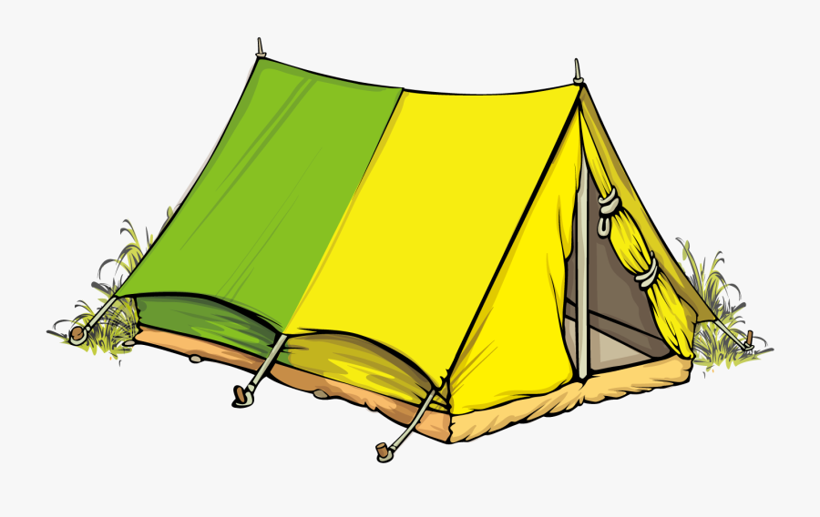 Camping Illustration Military Tents - Png Tent Camping Cartoon, Transparent Clipart
