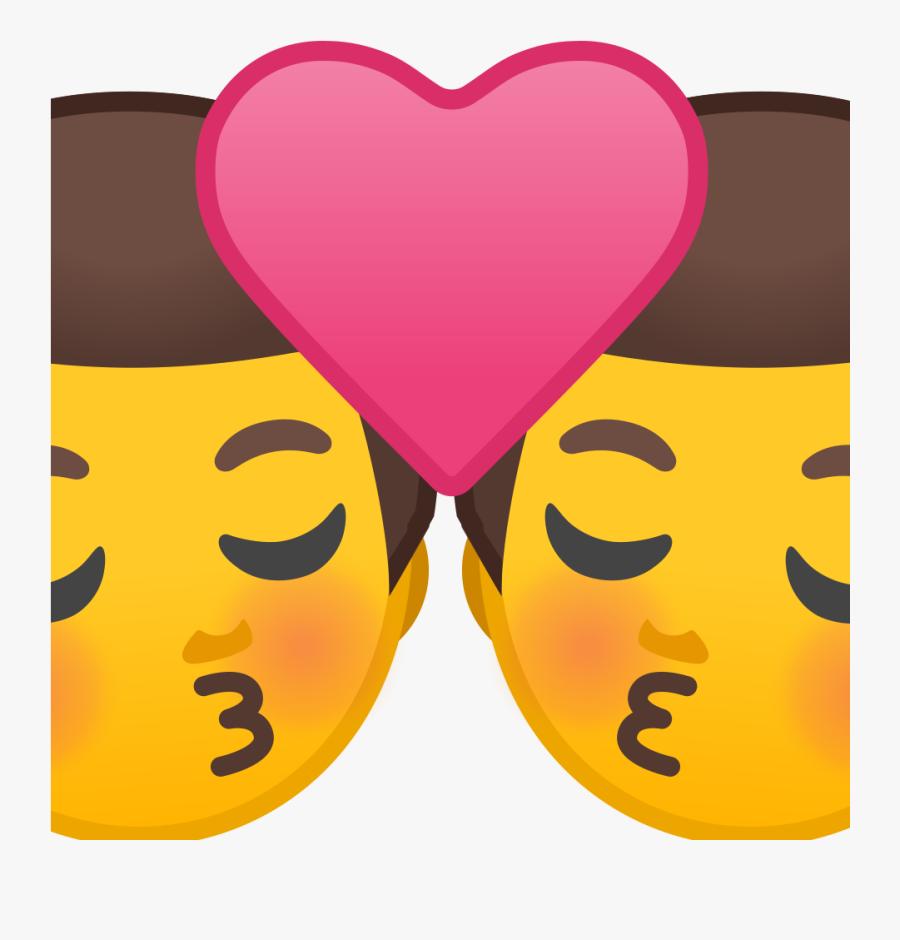 Man Noto Emoji People - Whatsapp Kissing Emoji Meaning, Transparent Clipart