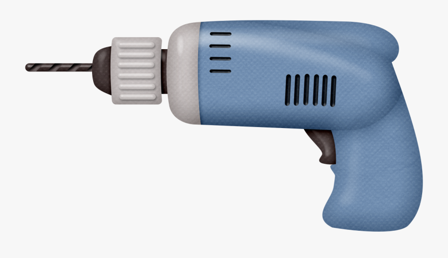 Drill Png - Handheld Power Drill, Transparent Clipart