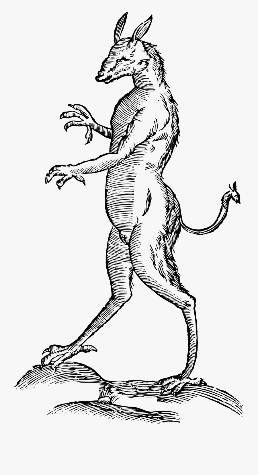 Vintage Mythical Illustration Big - Vintage Mythical Creature Illustration, Transparent Clipart