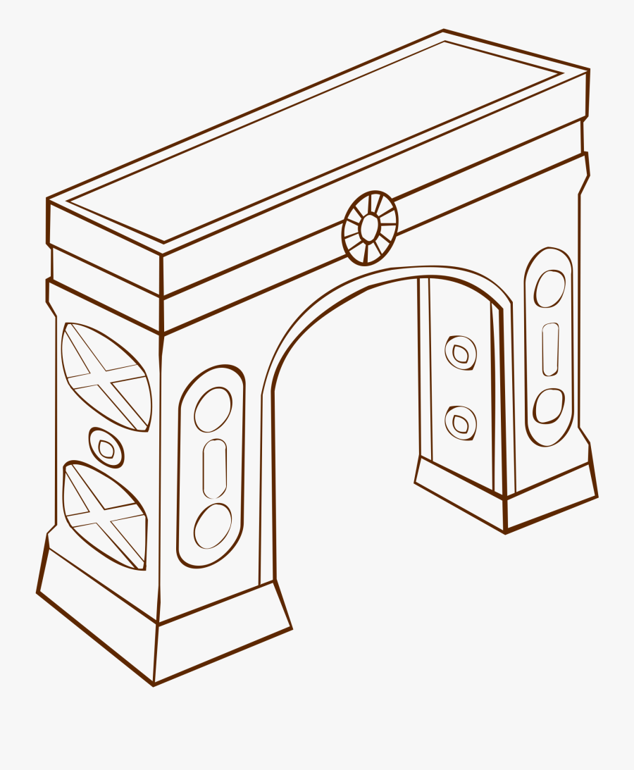 Black And White Arch Clipart - Arch Clipart, Transparent Clipart