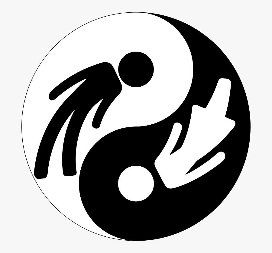 Male Female Yin Yang With Stroke - Yin Og Yang Symbol, Transparent Clipart