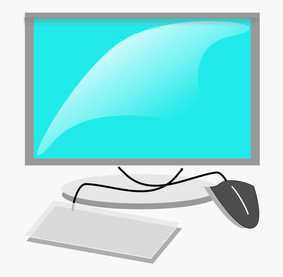 Computer With Mouse And Keyboard Clipart, Transparent Clipart