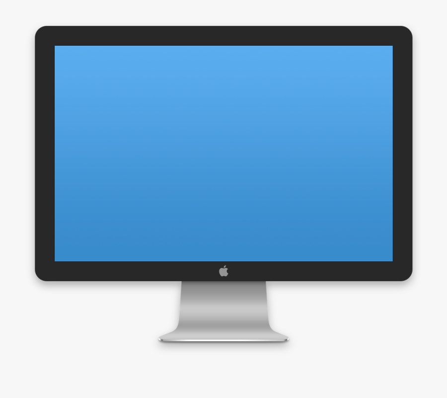 Images Of Computer Template - Mac Tv Screen Icon Png, Transparent Clipart