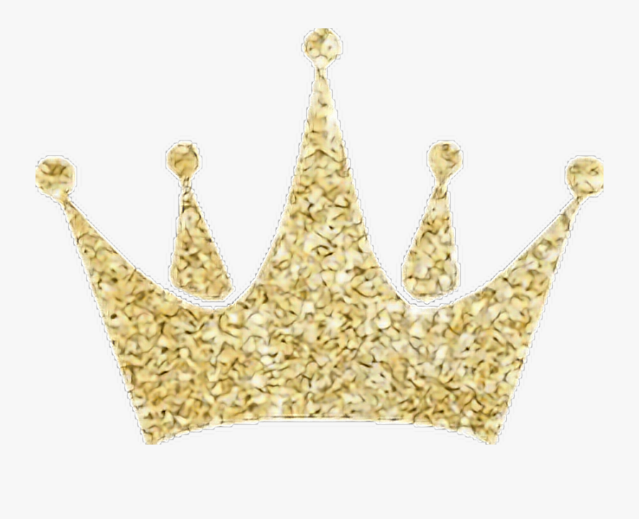 #gold #crown #princess #tumblr #girly - Gold Glitter Crown Clipart, Transparent Clipart
