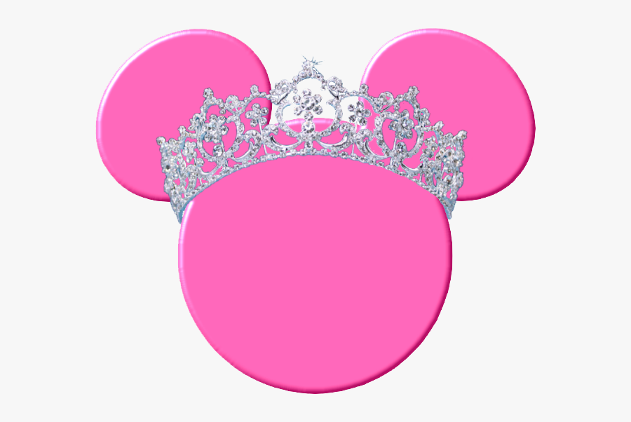 #minniemouse #pink #crown #princess #girly #freetoedit - Minnie Mouse Pink Head, Transparent Clipart
