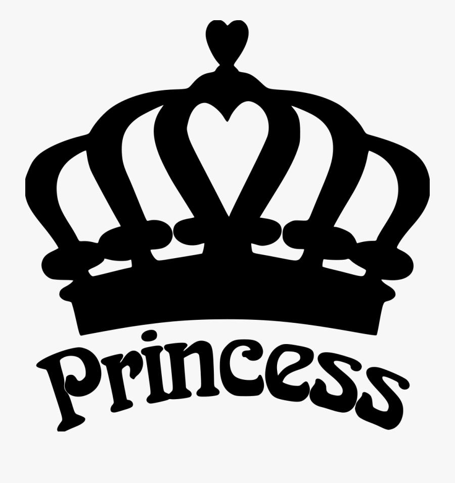 Silhouette Princess Crown Clipart, Transparent Clipart