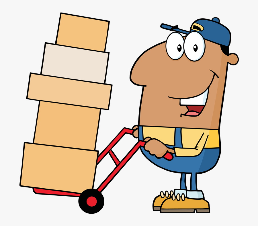 Transparent Movers Clipart - Person Moving Boxes Clipart, Transparent Clipart