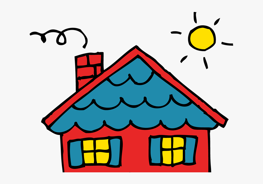"""Open Door""""s Property Blog - House With Red Roof Drawing, Transparent Clipart"""
